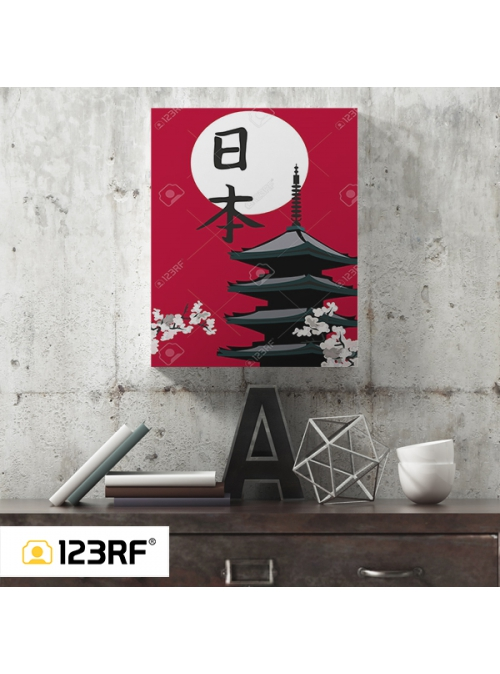 Oriental Blossom Canvas