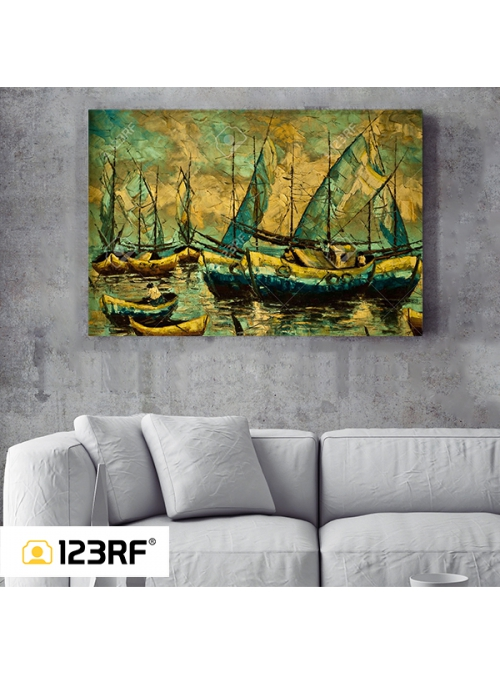 Marina Sunset Canvas
