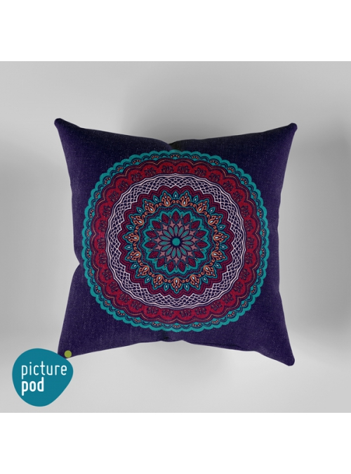 Ornamental Circle Cushion - 35cm