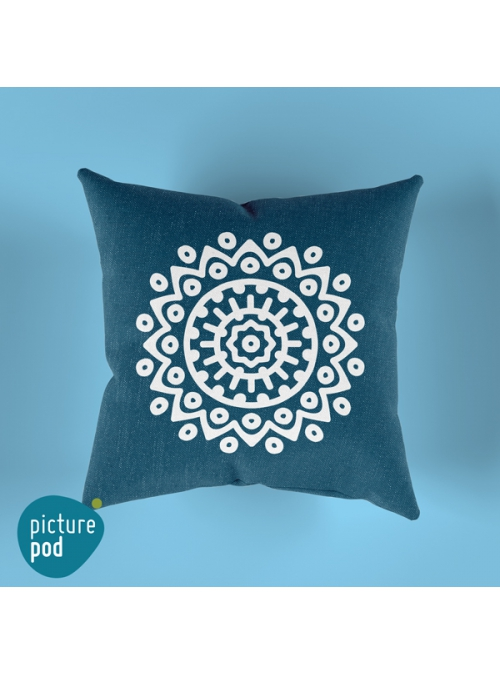 Turquoise Design Cushion - 35cm