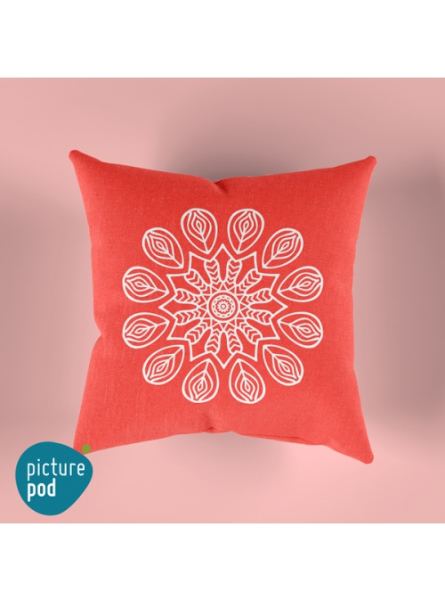Red Mandala Cushion - 35cm
