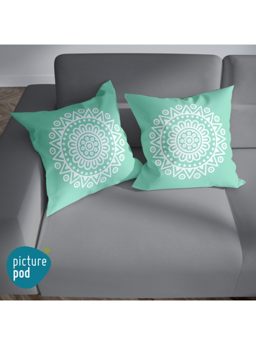 Mandala Teal Cushion - 35cm