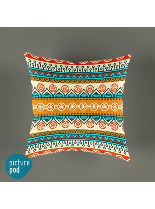 Indian Pattern Cushion - 35cm