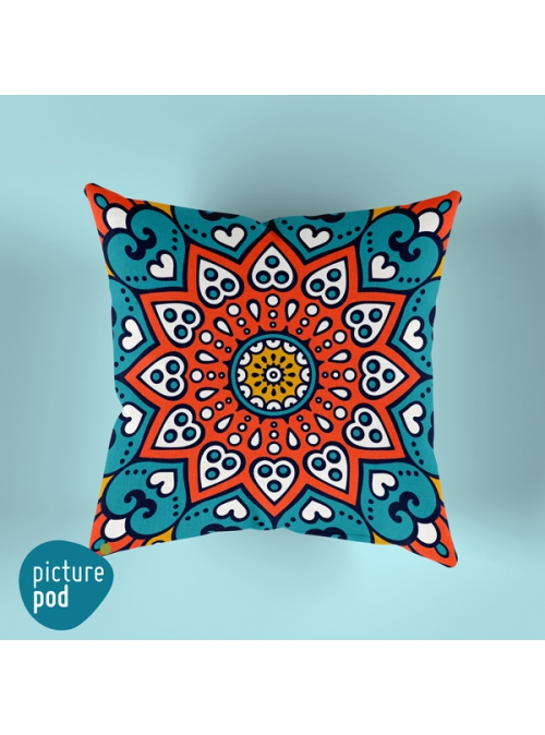 Indian Ornament Cushion - 35cm