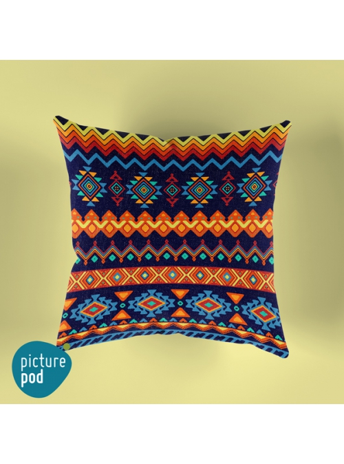 Tribal Design Cushion - 35cm