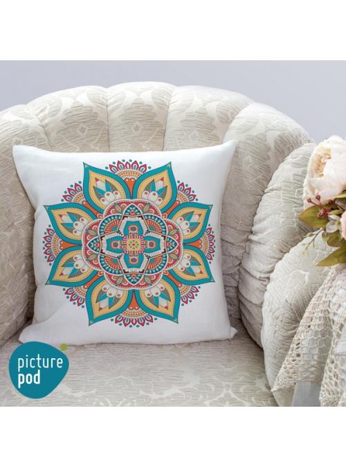 Indian Floral Cushion - 35cm