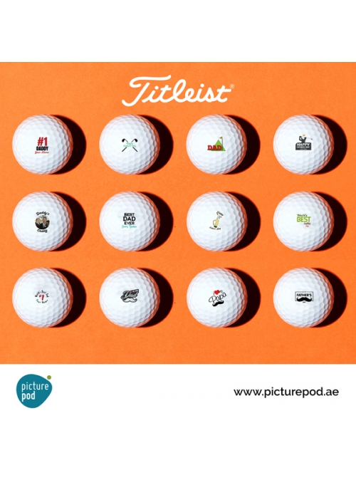 Father's Day Golf Balls (TITLEIST Single Sided)