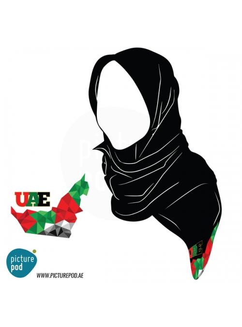 Womens Scarves - UAE Map