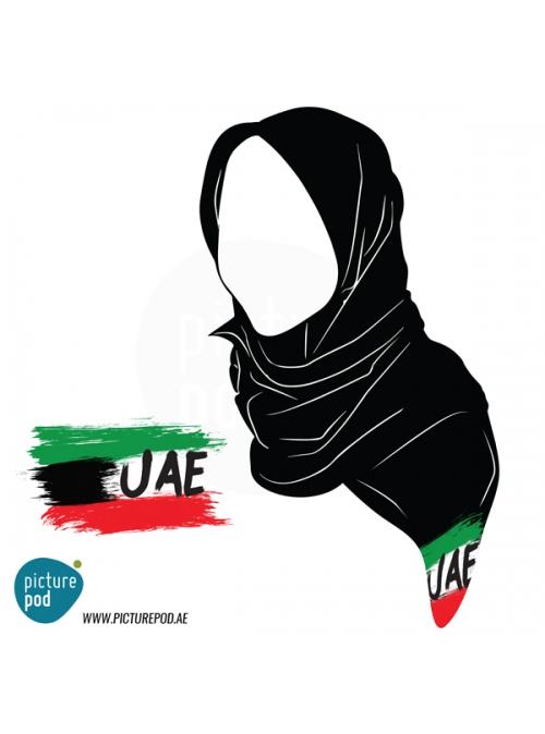 Womens Scarves - Flag UAE