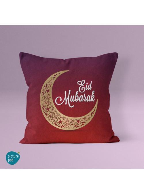 Eid Mubarak Red Cushion