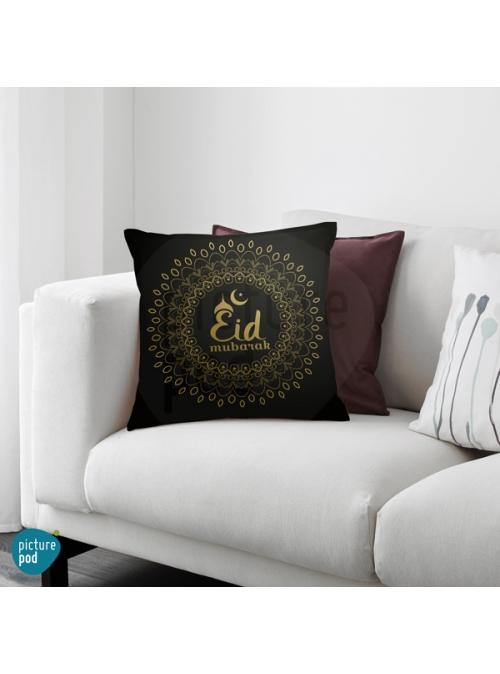Eid Mubarak Gold Pattern Cushion