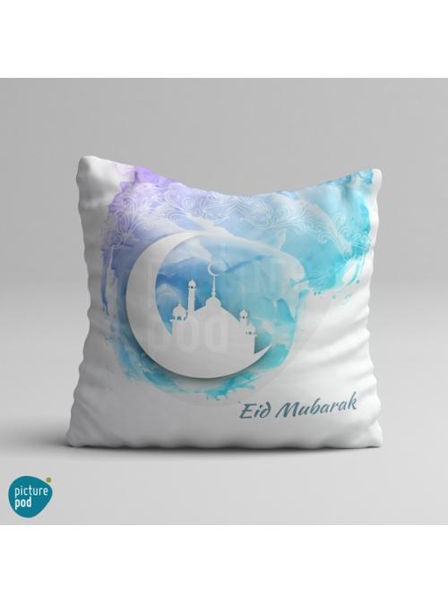 Eid Mubarak Watercolor Design Cushion