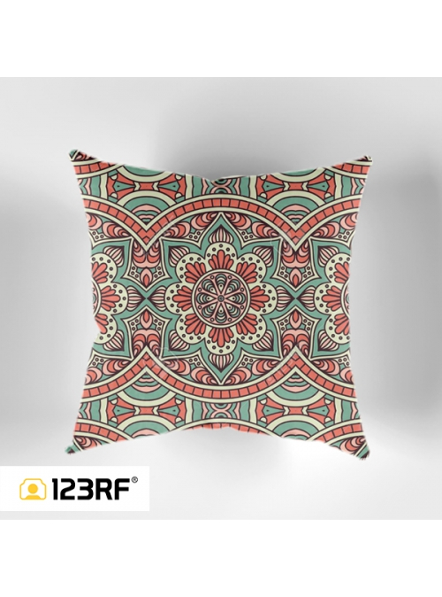 Ethnic Flower Cushion