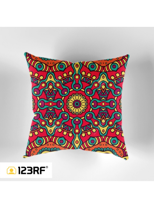 Colorful Abstract Ornaments Cushion