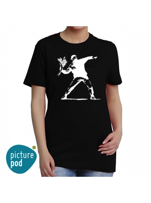 Flower T-shirt by Banksy