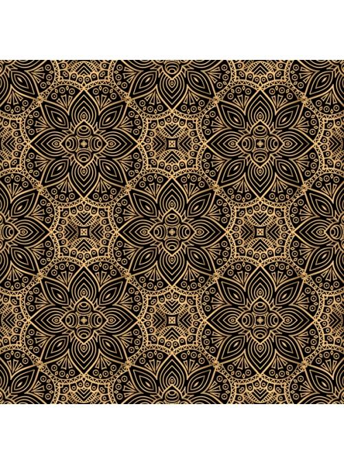 Elegant Floral Pattern - Gold