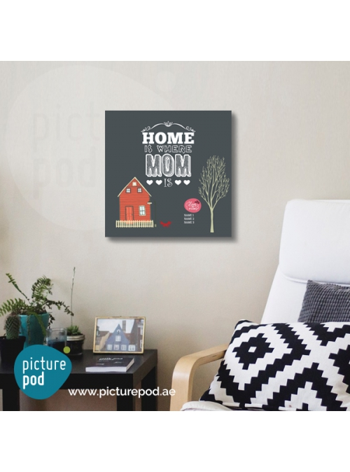 Customize -  Home is Where Mom is 40X40