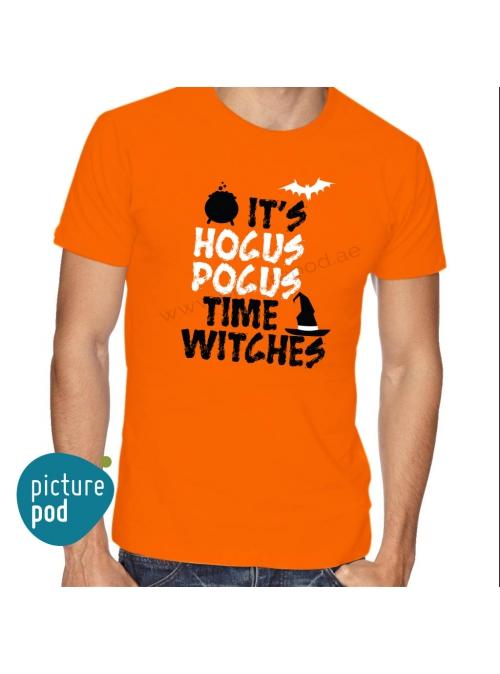 Mens Tee Hocus Pocus Orange