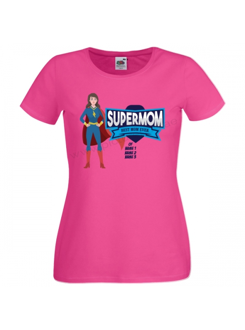SuperMom Best Mom Ever Customized T-Shirt