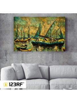 Marina Sunset Canvas