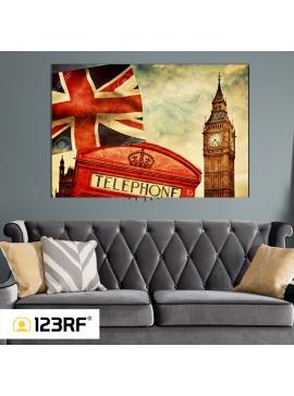 London Icons Canvas