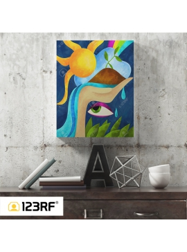 Abstract Life Canvas