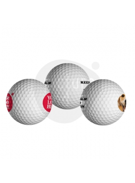 Golf Balls - Double-Sided Prints  (12 Units)