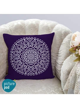 Purple Mandala Cushion - 35cm