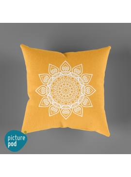 Yellow Mandala Cushion - 35cm