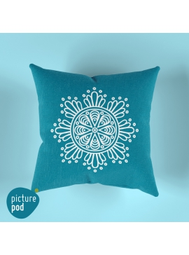 Mandala Dark Turquoise Cushion - 35cm