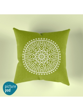 Green Mandala Cushion - 35cm