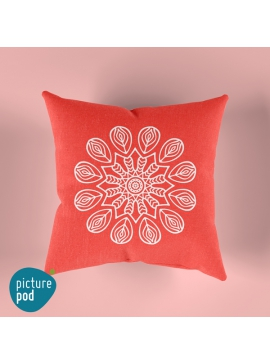 Red Mandala Cushion - 35cm