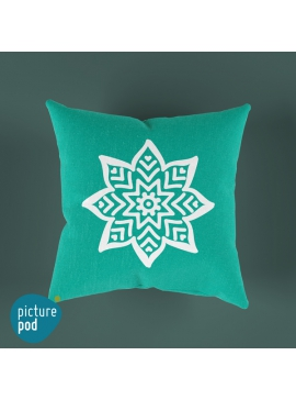 Mandala Dark Teal Cushion - 35cm