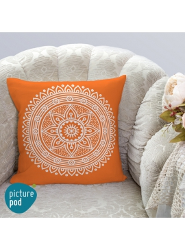 Mandala Orange Cushion - 35cm