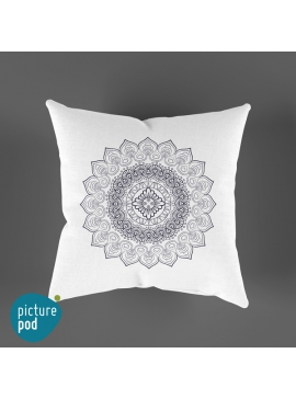 Mandala White Cushion - 35cm