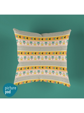 Yellow Arrows Cushion - 35cm