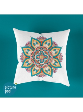 Indian Floral Cushion - 35cm