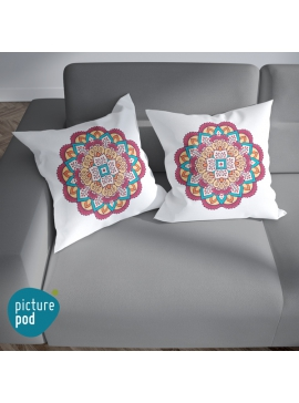 Indian Floral Ornament Cushion - 35cm