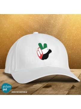 National Day Caps - Victory(White)