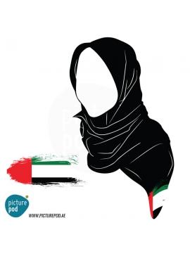 Womens Scarves - UAE Flag Art