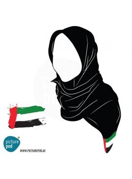 Womens Scarves - UAE Flag
