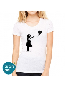 Balloon Girl T-shirt by Banksy