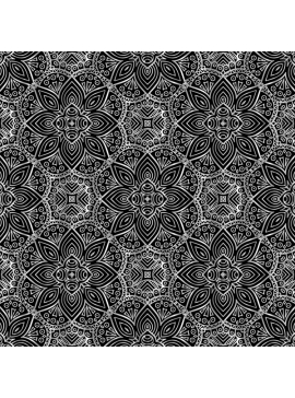 Elegant Floral Pattern - Silver