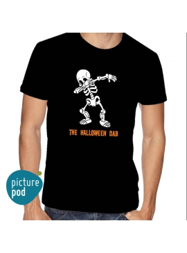 Mens Tee Halloween Dab Black