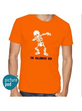 Mens Tee Halloween Dab Orange