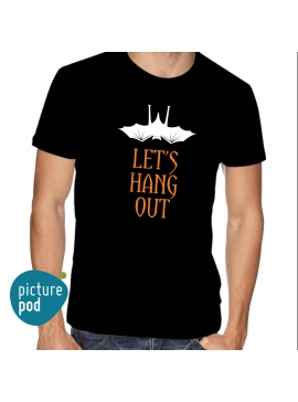 Mens Tee Let's Hang Out Black