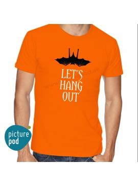 Mens Tee Let's Hang Out Orange