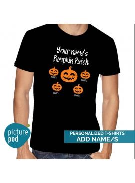 Mens Tee Pumpkin Patch Customized Black