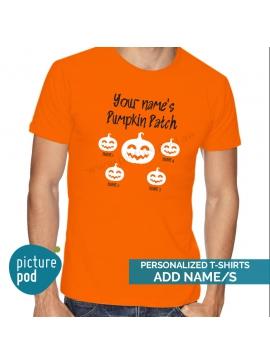 Mens Tee Pumpkin Patch Customized Orange