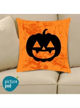 Halloween Pumpkin Orange Cushion